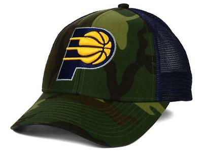 Indiana Pacers Adidas NBA Camo Navy Trucker Snapback Hat Cap One Size Fits Most • 15.19£