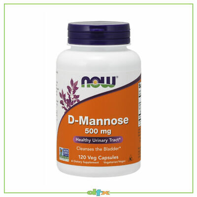 AU42.90 • Buy Now Foods D-Mannose, 500 Mg 120 Veg Caps, 40 Serve, Urinary Tract Health UTI