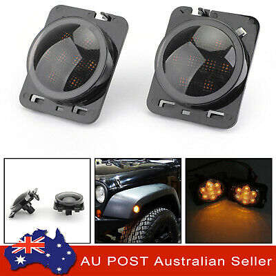 AU39.73 • Buy 2x Front Fender Side Marker LED Turn Light For Wrangler JK 2007-2015 Amber