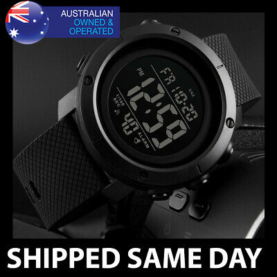AU24.95 • Buy 434 MENS WATERPROOF SKMEI DIGITAL SPORTS WATCH Gold Military Water Resistant 101