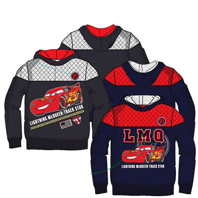 Disney Cars Original Kids Boys Hooded Sweatshirt Pullover Hoody Top Jumper 3Y-8Y • 11.99£