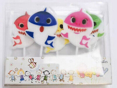 $9.75 • Buy BABY SHARK DooDooDoo Happy Birthday Party CAKE/DESSERT CANDLES Cupcakes 5pcs