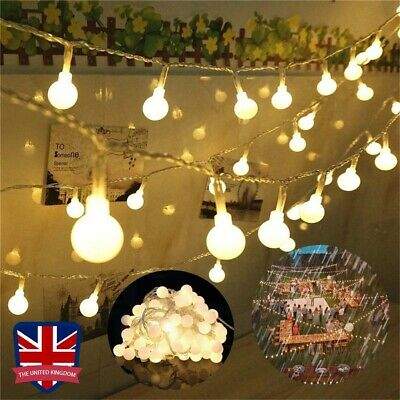 10m/20m Mains Powered Warm White LED String Fairy Ball Lights Indoor/Outdoor UK • 9.88£