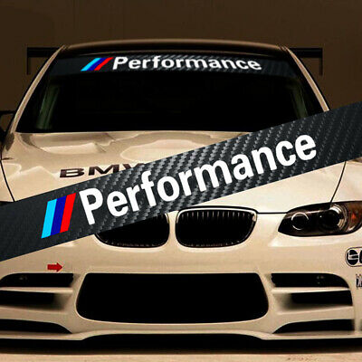 $19.99 • Buy M Performance Tri-Color Front Windshield Decal Bumper Banner Sticker For BMW