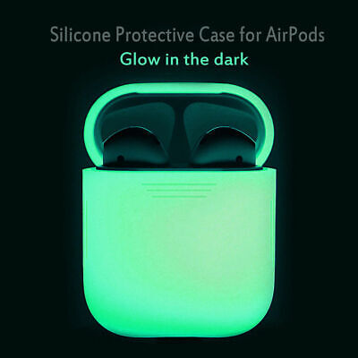 $ CDN2.30 • Buy Glow In The Dark Silicone Protective Cover For Apple Airpod 2/1 Charging Case