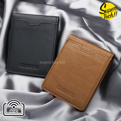 AU14.75 • Buy Rfid Blocking Leather Wallet Credit Card Holder Slim Men's Money Cash Clip Purse