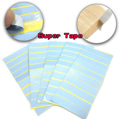 Pre-Cut Double Sided Adhesive Tape For Tape In Human Hair Extension Skin Weft UK • 4.99£
