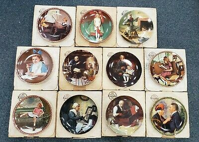 $ CDN133.33 • Buy Lot Of 11 Knowles Norman Rockwell Fine China Collector's Plates W/ COA's