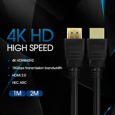 AU8.99 • Buy Ultra HD 4K 2160p HDMI Cable V2.0 Premium 3D High Speed With Ethernet HEC ARC AU