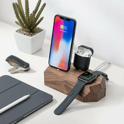 AU140 • Buy Triple Dock - IPhone, Watch & AirPods. Handcrafted By Oakywood Goods