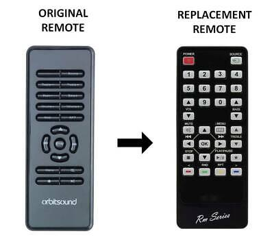 RM-Series® Replacement Remote Control Fits  ORBITSOUND T12 • 9.95£