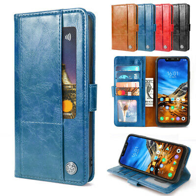 $ CDN11.93 • Buy For Xiaomi Pocophone F1 Case PU Leather Multi Card Slots Wallet Protective Cover