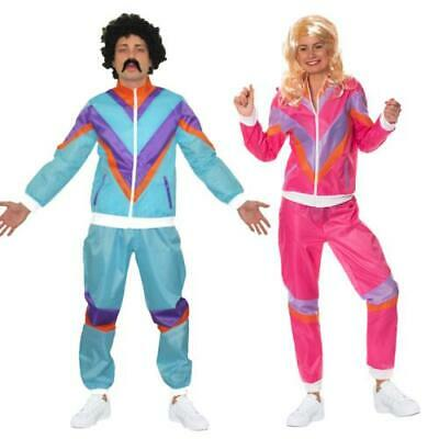 Mens Ladies 80s Shell Suit Fancy Dress Costume Scouser Tracksuit Womens Couples • 12.99£