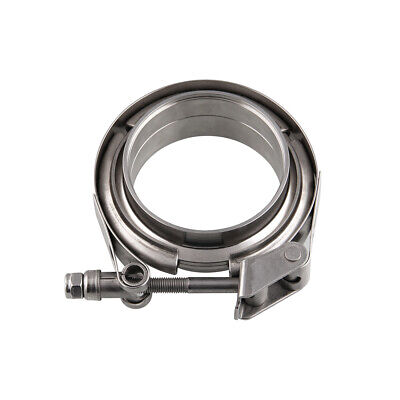 $ CDN67.99 • Buy Quick Release V Band Clamp 101mm 4'' W/ 2 Weld Rings Centering Rings Turbo SS304