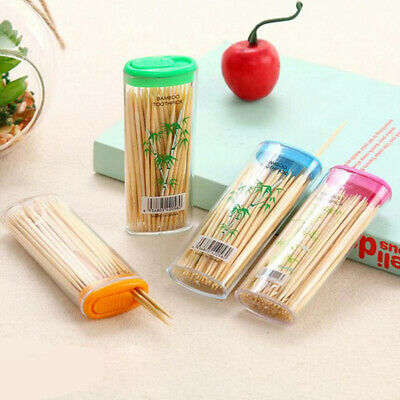 £1.99 • Buy 100 Wooden Tooth Picks Portable Box Flat Oral Care Dental Flos Care Oral Hygiene