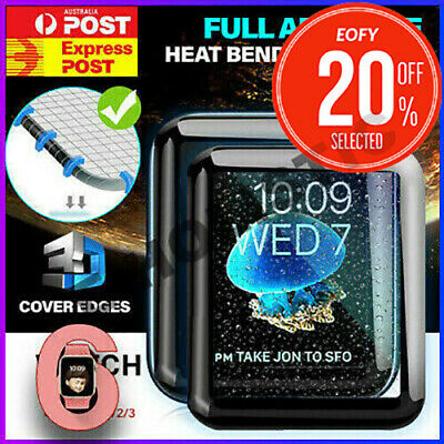 AU9.99 • Buy Tempered Glass Screen Protector Full Edge For IWatch Apple Watch Series 5 4 3 2
