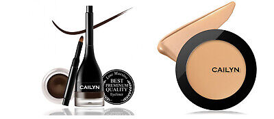 $ CDN64.09 • Buy Cailyn HD Foundation Matte Full Coverage+Gel Eye Liner Chocolate New Formula