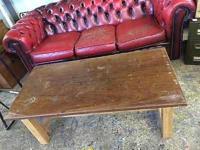 Vintage School Science Lab Bench Iroko Coffee Table Workstation Industrial • 75£