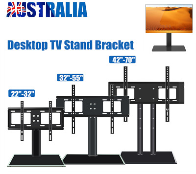 AU36.50 • Buy 32  55  70  Table Top Desktop TV Stand Bracket LCD LED Plasma VESA Mount