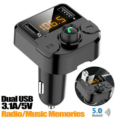 Wireless Bluetooth FM Transmitter Car Kit USB Charger Radio MP3 Player Handsfree • 12.99£