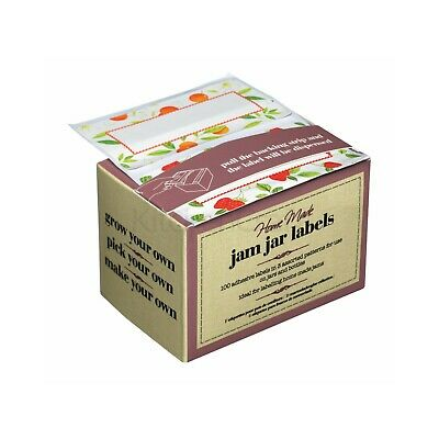 Kitchen Craft Jam Chutney Preserve Jar Labels Self Adhesive 100 In Dispenser Box • 2.25£