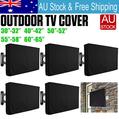 AU22.60 • Buy 32 -65  Inch Waterproof TV Cover Outdoor Patio Flat Television Protector Black
