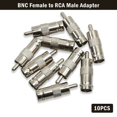 AU12.49 • Buy 10 X BNC Female To RCA Male Coax Cable Connector Adapter Plug For CCTV Camera