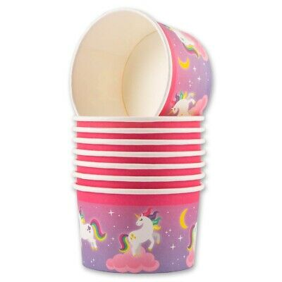 24 PINK TREAT TUBS Kids Birthday Party Paper Cups Sweets Treats Nibble Ice Cream • 8.21£