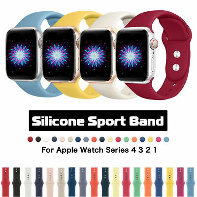 $ CDN1.30 • Buy 38/42mm 40/44mm Silicone Sports Apple Watch Band Strap For IWatch Series 4 3 2 1