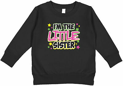 $18.95 • Buy I'm The Little Sister Stars Family Photo Sibling Announcement Toddler Sweatshirt