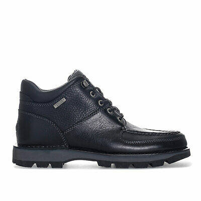 Mens Rockport Umbwe Ii Chukka Boots In Black- Lace Fastening- Padded Tongue And • 73.94£