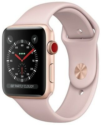 $ CDN265.12 • Buy Apple Watch Series 3 42mm Gold Case Pink Sand Sport Band GPS + Cellular Used