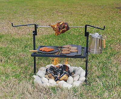 Outdoor Barbecue Grill Smoker Rotisserie Camping Cooking Campfire Spit Roast BBQ • 49.99$