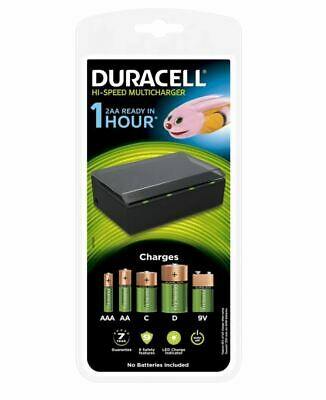 £26.95 • Buy Duracell Hi-Speed 1 Hour MultiCharger For AA AAA C D & 9v Rechargeable Batteries