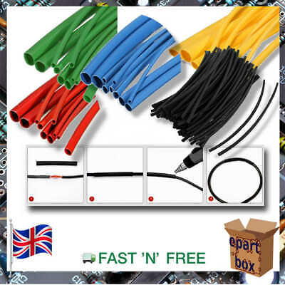 Electronic Heat Shrink Tubing Sleeving Cable Wire, 2.5, 4, 5, 8mm • 2.97£