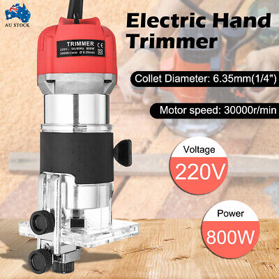 AU34.99 • Buy 800W Wood Trim Router Woodworking Power Tool 30000rpm Electric Hand Trimmer