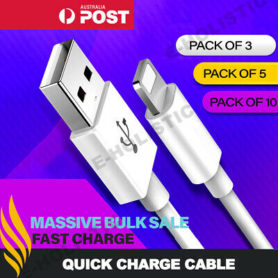 AU8.95 • Buy Lightning Cable To USB 1M 2M 3M Long Fast Charging Charger Data Cord For IPhone