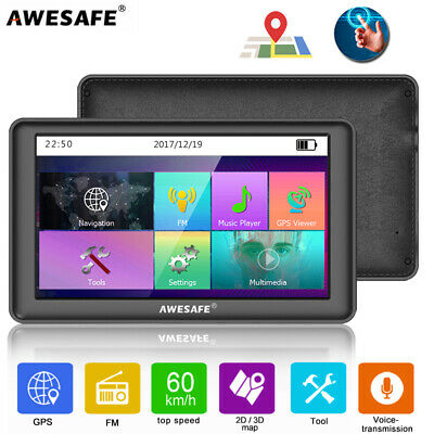 AU86.99 • Buy 7 AWESAFE GPS Navigator Portable SAT NAV With Bluetooth & Wired Reverse Camera