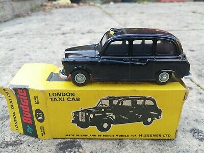 £20 • Buy LONDON TAXI CAB Diecast Model By Budgie Toys No 101 In Box Excellent Condition