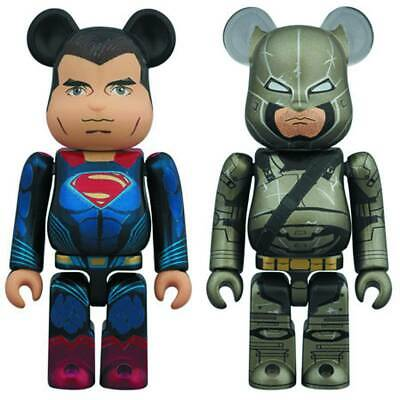 $54.98 • Buy 100% Bearbrick Medicom Bvs Superman & Armored Batman 2 Pack Figure Set New
