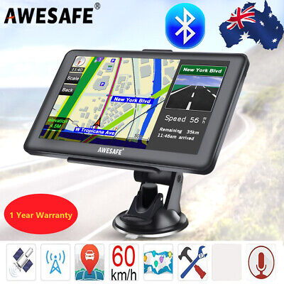AU83.99 • Buy 7  Awesafe Truck Car GPS Navigator 8GB Navigation Sat Nav Bluetooth Free AU Maps