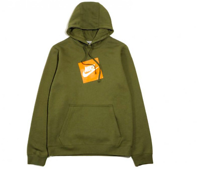 $55 • Buy NWT NIKE HOT BOX HOODIE PULLOVER MEN'S FLEECE - Green/Orange ALL SIZES-AUTHENTIC