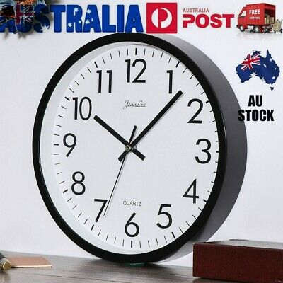 AU13.79 • Buy Wall Clock Quartz Round Wall Clock Silent Non Ticking Battery Operated 10 Inch