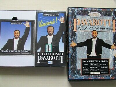 £9.95 • Buy The Pavarotti Gift Collection VHS Video & CD Box Set Limited Edition + BOOKLET.