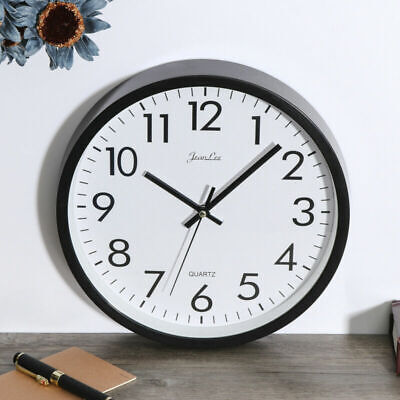 AU13.69 • Buy Wall Clock Silent Non Ticking Quality Quartz Battery Operated 10 Inch Round VIC
