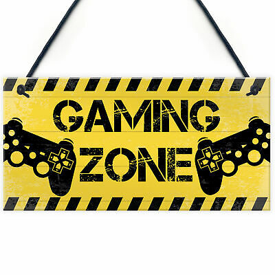 £3.99 • Buy Gaming Zone Plaque For Boys Bedroom Man Cave Gaming Gamer Accessories