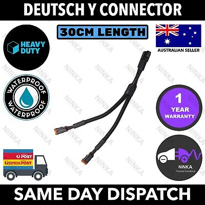 AU20 • Buy Deutsch Plug Y Cable 30CM Connector DT 2 To 1 Wiring Harness Joiner Light Bar 1