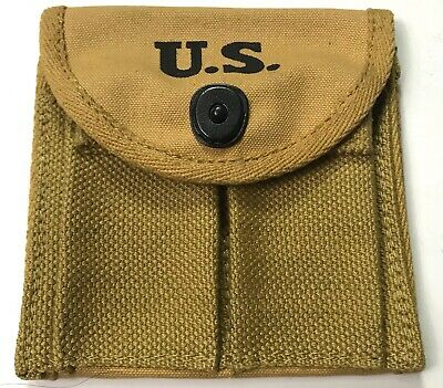 $19.96 • Buy Wwii M1 Carbine Rifle 15rd Butt Stock Ammo Pouch-khaki