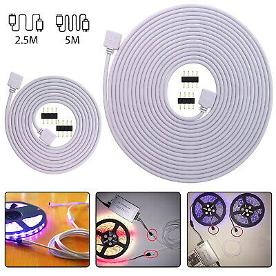 4Pin Extension Wire Connector For SMD LED Strip Light RGB 5050 3528 Cable Cord • 5.39$