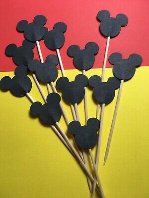 £2.59 • Buy 12 MICKEY MOUSE Cupcake Pick Toppers Birthday Flags Cake Decorations